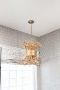 contemporary bathroom boho jute pendant light