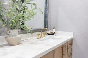 modern boho virtual bathroom design